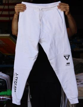 Custom_White_Joggers_With_Black_Ink_Screen_Printing2
